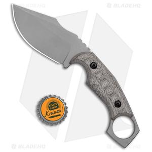 "Fox Knives Monkey Thumper Fixed Blade Knife OD Green Micarta (3.5"" Stonewash)"