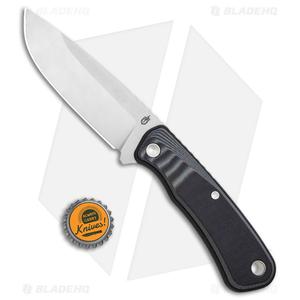 "Gerber Downwind Drop Point Fixed Blade Knife Black (4.3"" Satin) 30-001816"