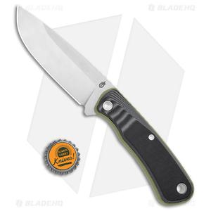 "Gerber Downwind Drop Point Fixed Blade Flat Sage Green (4.3"" Satin) 30-001818"