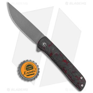 "CIVIVI Brad Zinker Bo Liner Lock Knife Red Carbon Fiber (2.9"" Stonewash)"