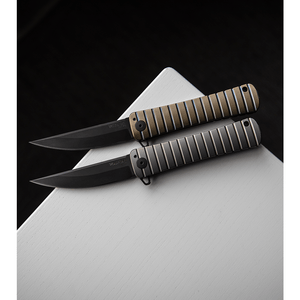 "Williams Blade Design BHQ Exclusive Shobu Zukuri Folder Bronze Ti (3.8"" Black)"