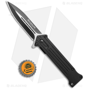 """Boker Magnum Intricate Compact Spring Assisted Knife (3.5"""" Black) 01LL322"""