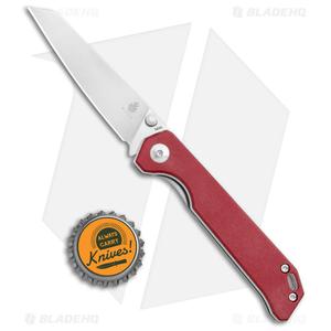 "Kizer Azo Vanguard Mini Begleiter Liner Lock Knife Red Micarta (2.8"" Satin)"