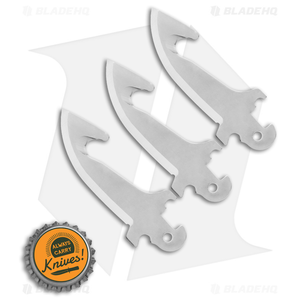 """Cold Steel Click-N-Cut Replacement Blade  3 Pack (2.5"""" Gut Hook) 40AP3E"""