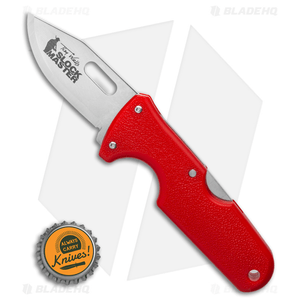 """Cold Steel Click-N-Cut Slock Master Skinner Knife Red ABS (2.5"""" SW)"""