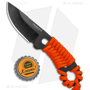 "Condor Carlitos Neck Knife Fixed Blade Orange Paracord (2.5"" Black)"