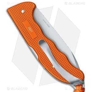 """Victorinox Hunter Pro Alox Lockback Knife L. Tiger Orange Aluminum (3.8"""" Satin)"""