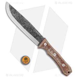 "Condor Mountain Pass Camp Fixed Blade Knife w/ Leather Sheath (7"" Black)"