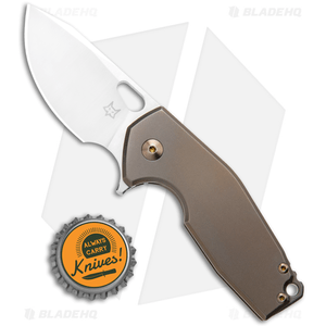 "Fox Knives Vox Limited Suru Frame Lock Knife Bronze Ti (2.3"" Satin)"