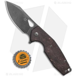 """Fox Knives Vox Yaru Frame Lock Knife Space Coral CF (2.9"""" Black SW)"""