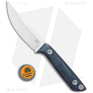 "Fox Knives Perser FX-143 MB Fixed Blade Knife Black Micarta (3.9"" Satin)"