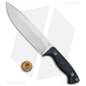 "Fox Knives Perser FX-140XL MB Fixed Blade Knife Black Micarta (7.375"" Satin)"