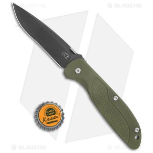 """Hinderer Knives Firetac Recurve Knife OD Green/Battle Black (3.6"""" Battle Black)"""