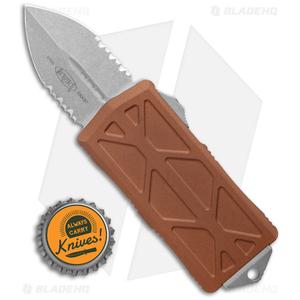 "Microtech Exocet Dagger CA Legal OTF Automatic Knife Tan (1.9"" Apocalyptic Serr)"