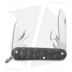 Flytanium + Victorinox Cadet 84mm Knife Raindrop Carbon Fiber