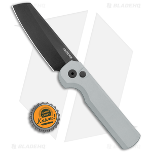 "Arcform Slimfoot Automatic Knife Grey Aluminum (3.1"" Black)"