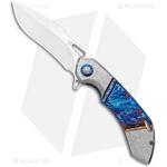 Olamic-Wayfarer-247-Harpoon-Frame-Lock-Knife-Entropic-Frosty-Ti--Satin-