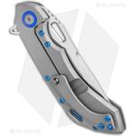 Olamic-Wayfarer-247-Drop-Point-Knife-Blasted-Ti---Blue-Hardware--3.5--Satin-