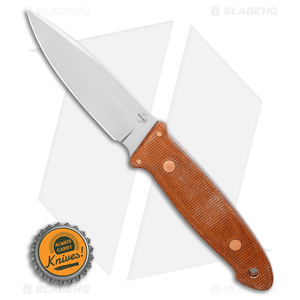 "Boker Plus Burnley Cub Pro Fixed Blade Knife Brown Micarta (3.75"" Satin) 02BO029"