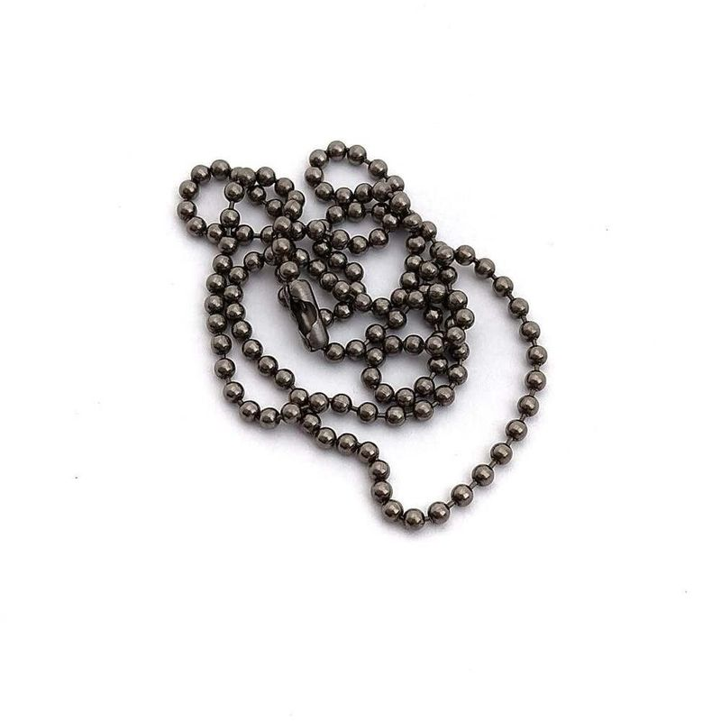 Titanium-Ball-Chain-Necklace---Large