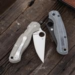 Lotus-Black-Canvas-Micarta-Scales-for-Spyderco-Paramilitary-2-Knife