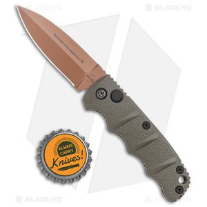 """Boker Mini Kalashnikov Desert Warrior Automatic Knife Dagger (2.5"""" Copper D2)"""
