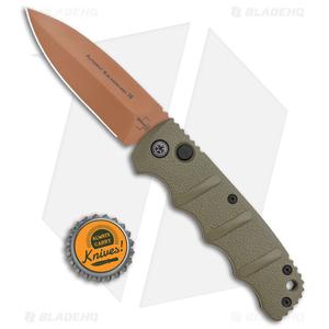 """Boker Desert Warrior Kalashnikov Dagger Automatic Knife OD Green (3.3"""" D2)"""