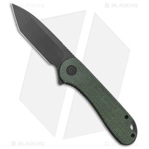 "CIVIVI Elementum Tanto Liner Lock Knife Green Micarta (2.9"" Black SW D2)"